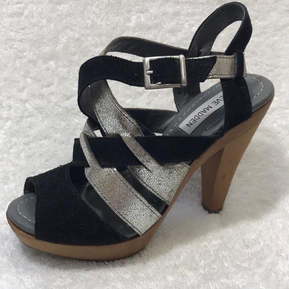 561f0fd94968 Steve Madden Women Leather Heel Sandals